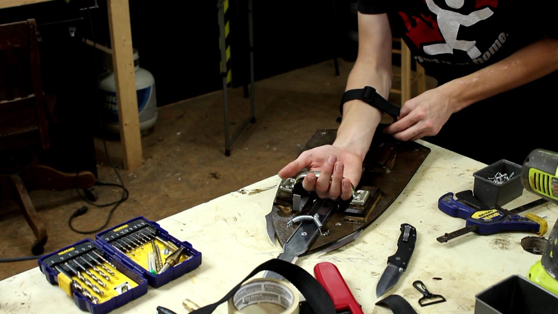 Attaching Handle and Arm Strap