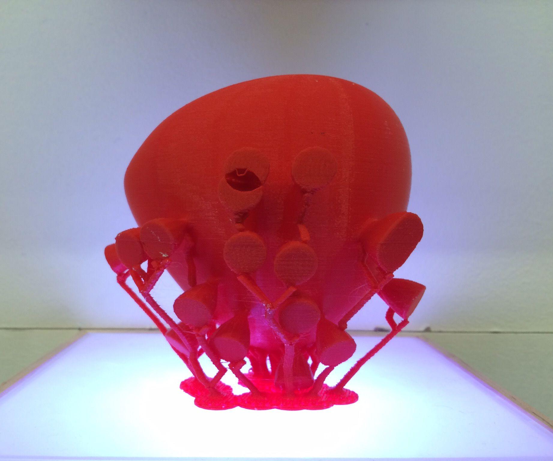 3D print with complex overhangs