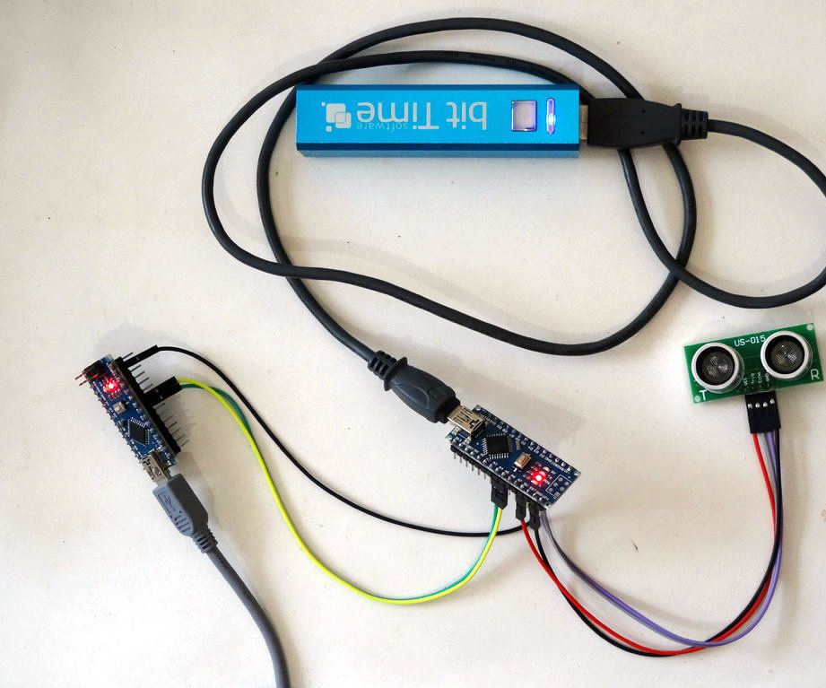I2C Communication between two Arduino boards with Visuino - I2C Ultrasonic Ranger