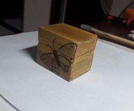 Small Wooden Box From Popsicle Sticks
