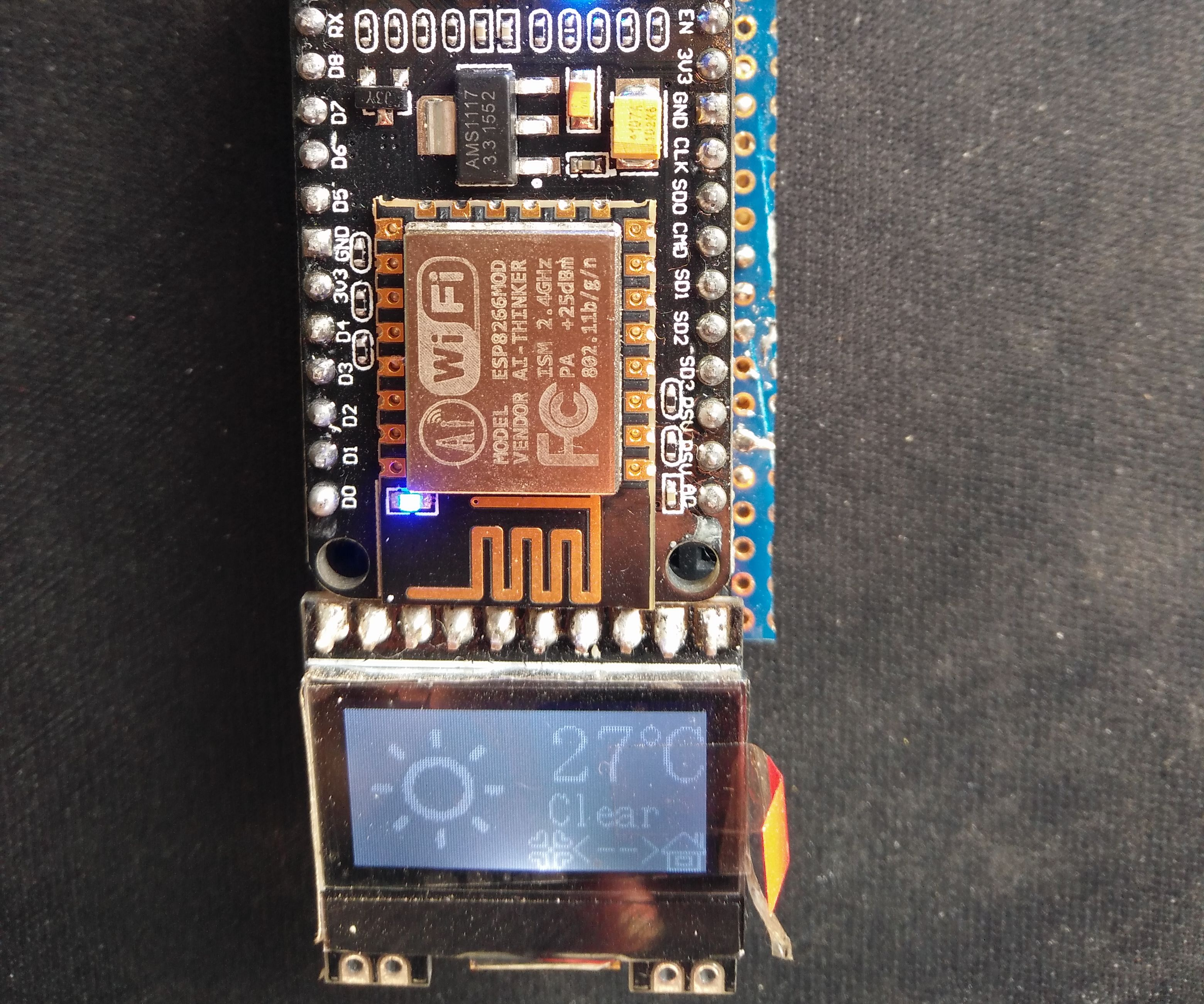 ESP8266(NodeMCU) Weather Station