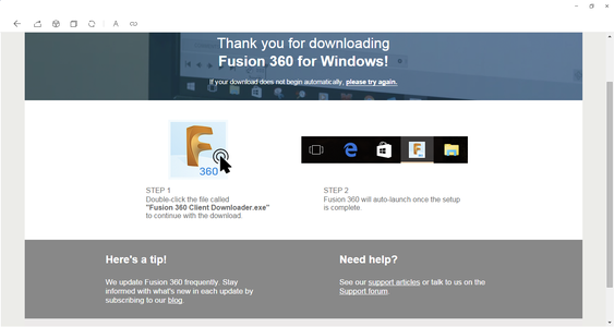 Download and Install Autodesk Fusion 360