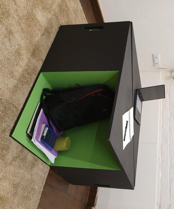 Table That Can Be Turned Into a Chair and a Storage Unit