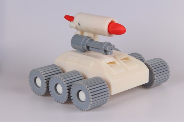 Beginner's Guide to 3D Printing With the Objet Connex 500: How to Build a Missile Launcher Tank (and Clean the Mess You Made in the Process)