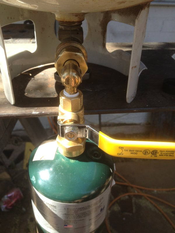 """How to Completely Refill a 1lb """"disposable"""" Propane Bottle"""