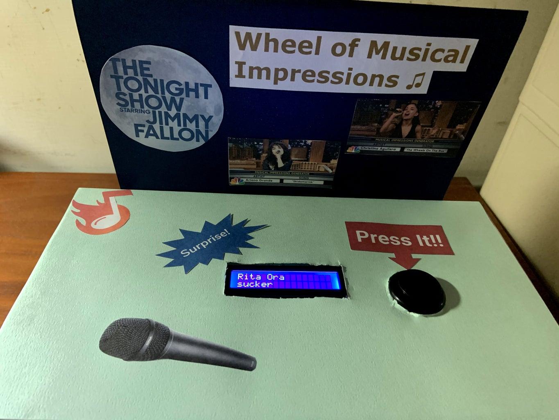 Tonight Show's Wheel of Musical Impressions Machine