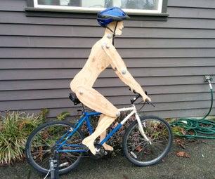 Simple 'Biking Figure' Kinetic Sculpture