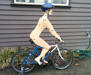 Simple 'Biking Figure' Kinetic Sculpture