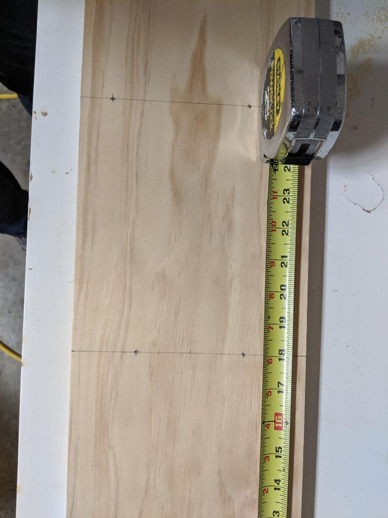 Marking and Drilling Holes (Center Support)
