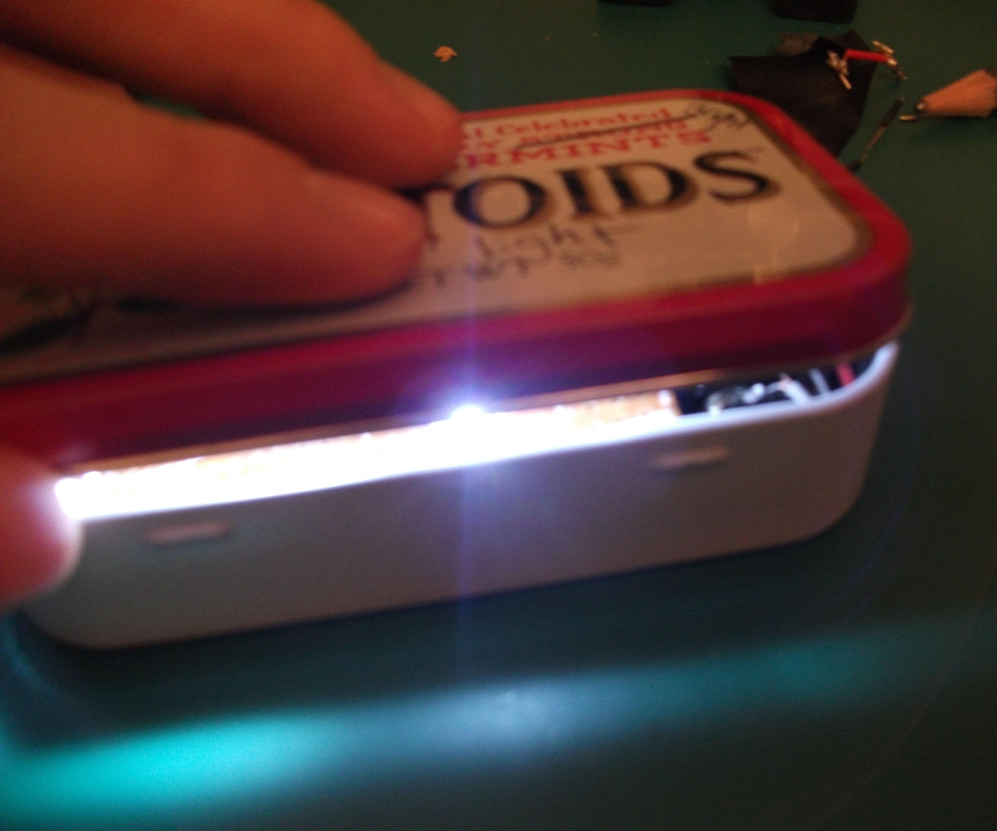 Box o' light - pocket emergency or reading light
