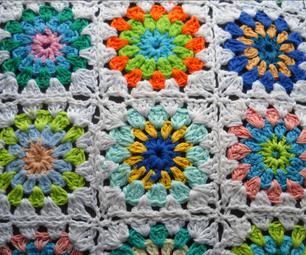 Crochet Sunburst Granny Square