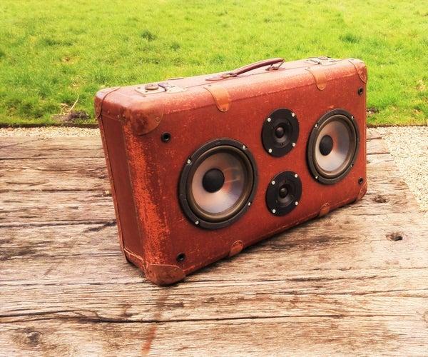 Retro Suitcase Boombox