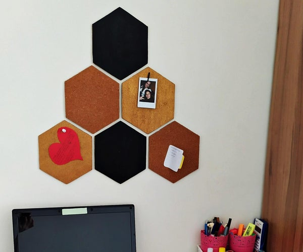 How to Make a Hexagon Corkboard Out of Cardboard