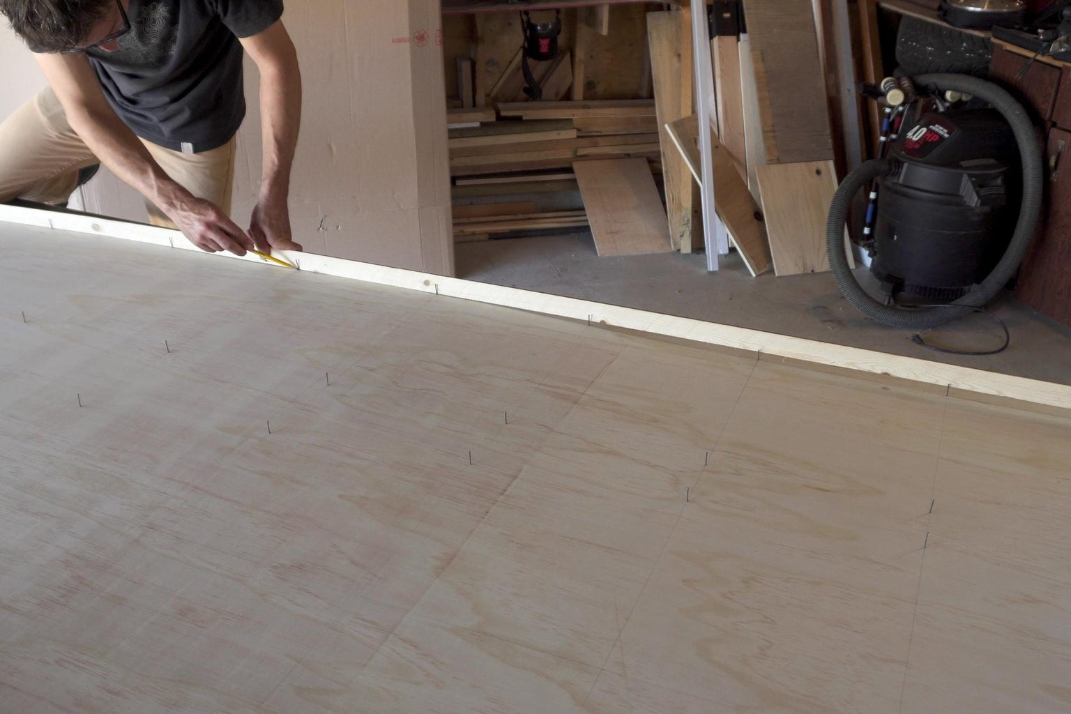 Nails + Long Bendy Strip of Wood = Nice Smooth Lines
