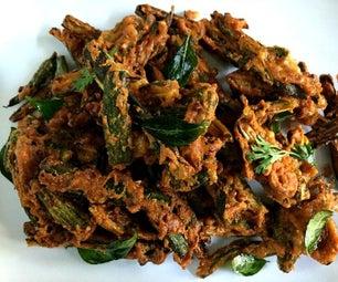 Bhindi Kurkuri/Crispy Indian Spiced Okra Fry