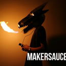 The Fire-breathing steel Dragon helmet