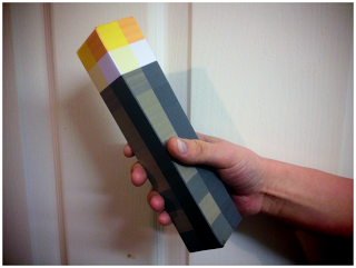 Create a Life Size Minecraft Torch