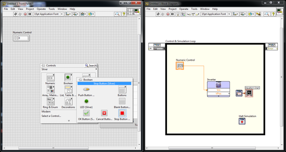 Output Graph and Halt Simulation