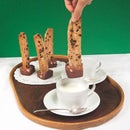 Biscotti Hot Chocolate Sticks (with marshmallows!)
