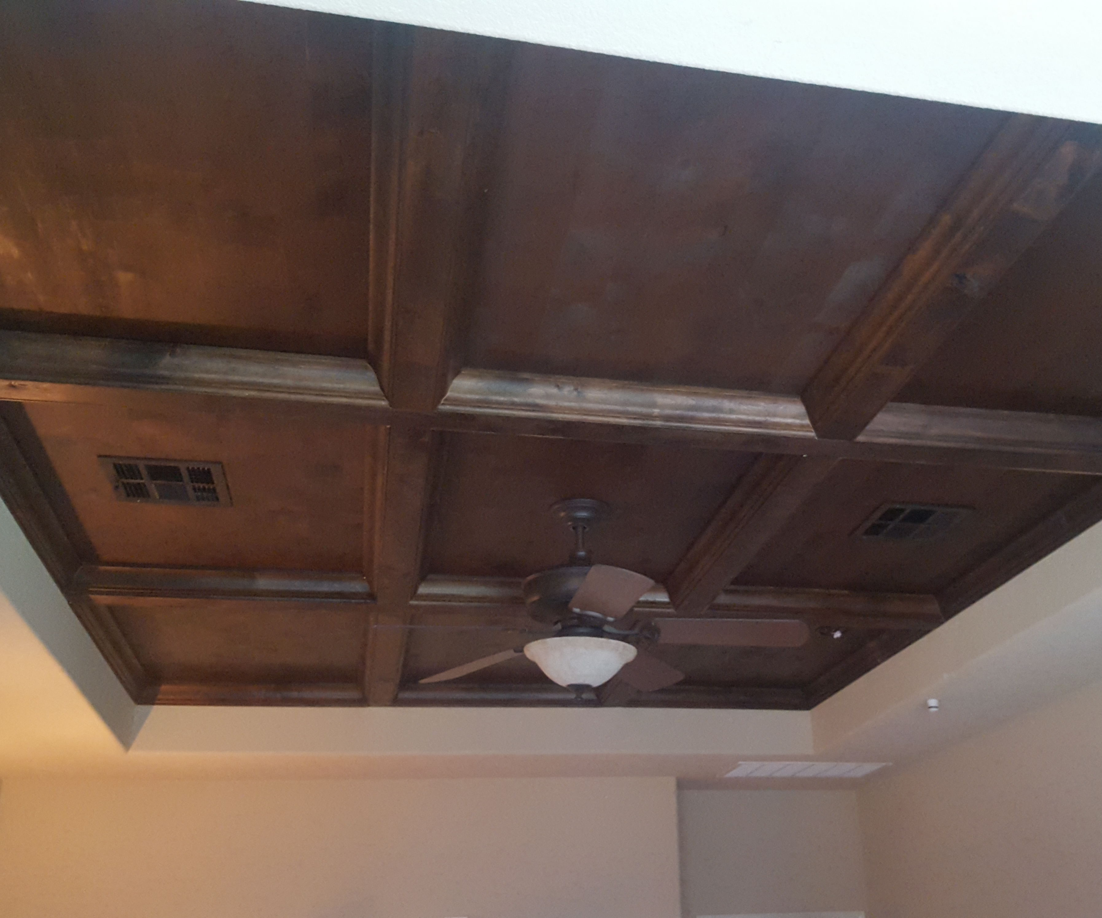 Image of: How To Diy A Professional Looking Coffered Ceiling For 800 In Materials 5 Steps With Pictures Instructables
