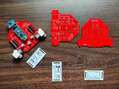 Wheel-E the Self Balancing PCB Based Robot