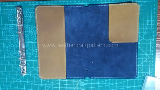 Sew 2 Lining Leather on Surface Leather's Flesh Side.