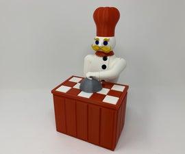 "The ""Magic Chef"", a 3D Printed Automata."