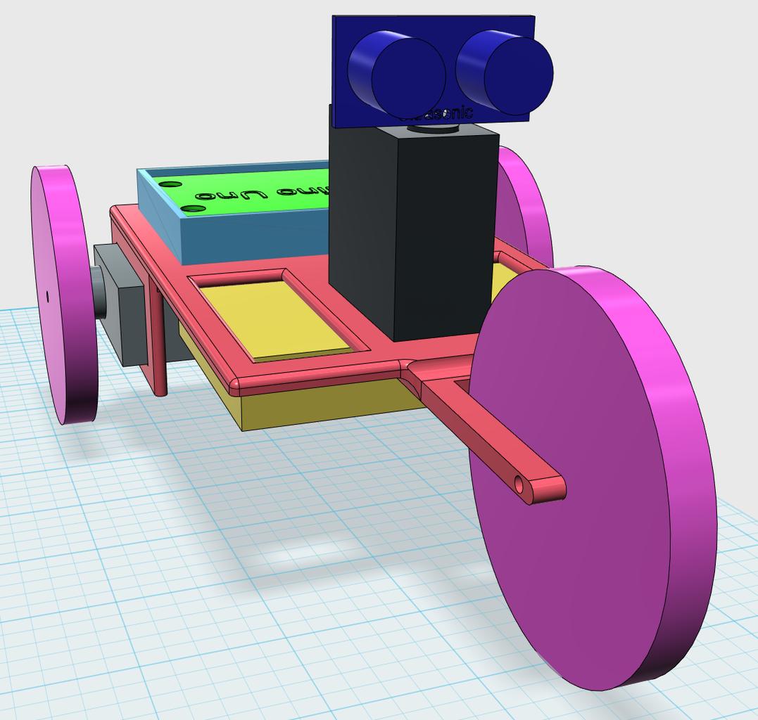3D Printed Arduino Boe Bot