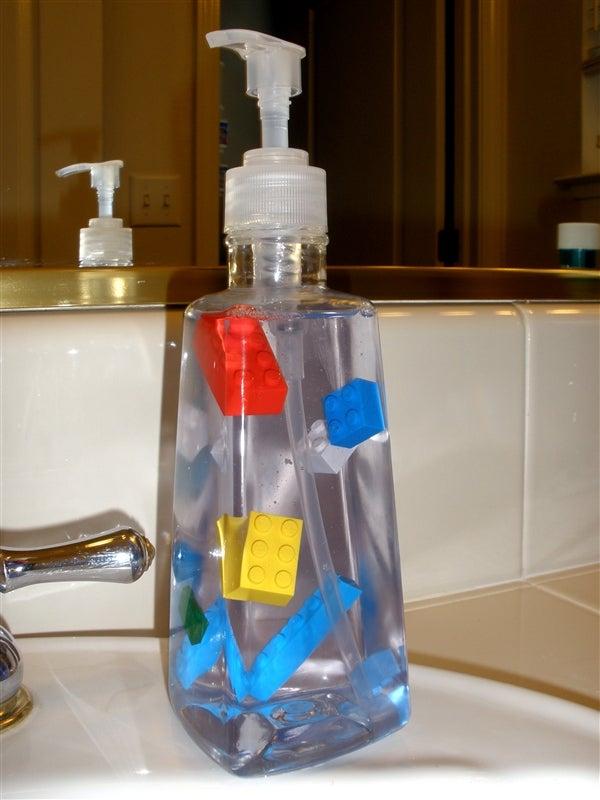 Float Legos in Your Liquid Soap Bottle