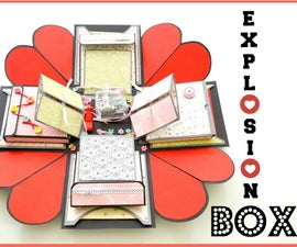 How to Make Exploding Memory Box   DIY Surprise Gift for Boyfriend   Explosion Love Box Card