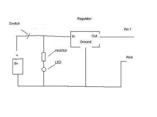 9v Usb Altoids Tin Charger With 2 L.E.D.'s