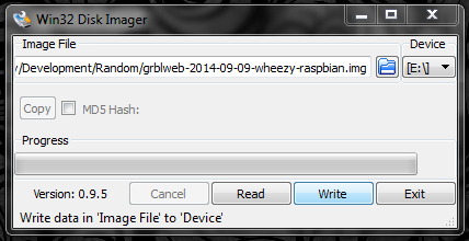 Copy the Raspberry Pi Image to Your SD Card