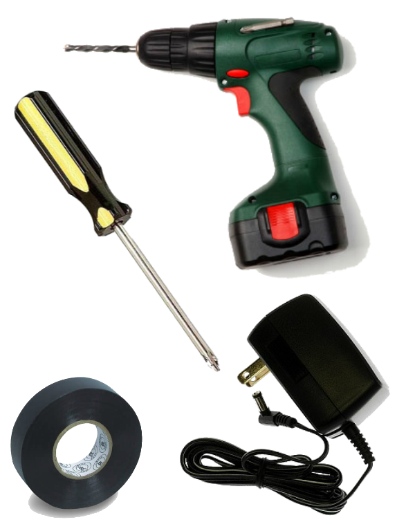 """Don't Throw It in the Landfill: """"How to Repair a Cordless Drill With Broken or Missing Battery for About $3 (or Less)"""""""
