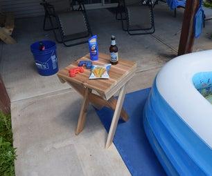 Poolside/Fireside Cedar End Table