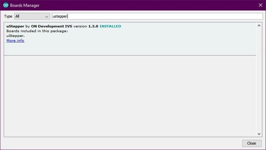 Step 2: Uploading the Required Code to the Ustepper