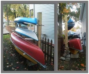 Kayak/Canoe Rack + Wood Storage
