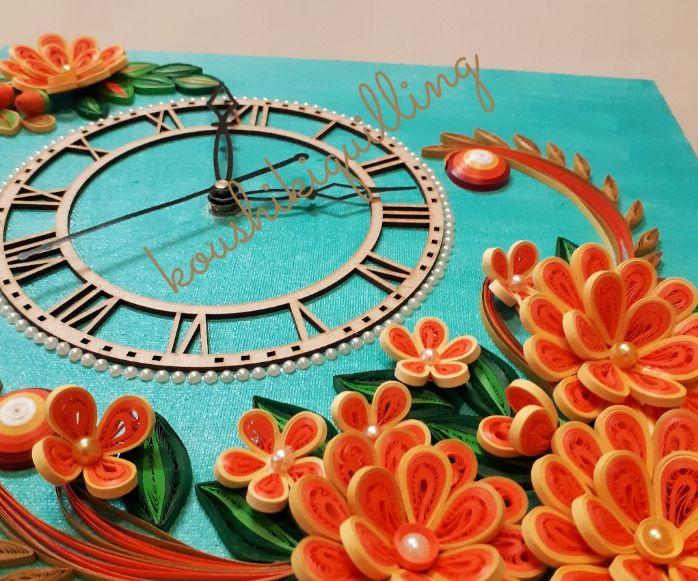 Beautiful Quilling Wall Clock