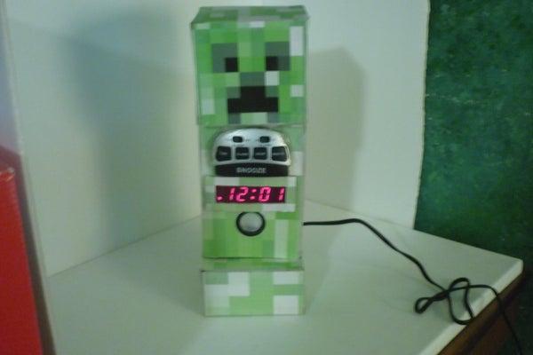MineCraft Creeper Alarm Clock