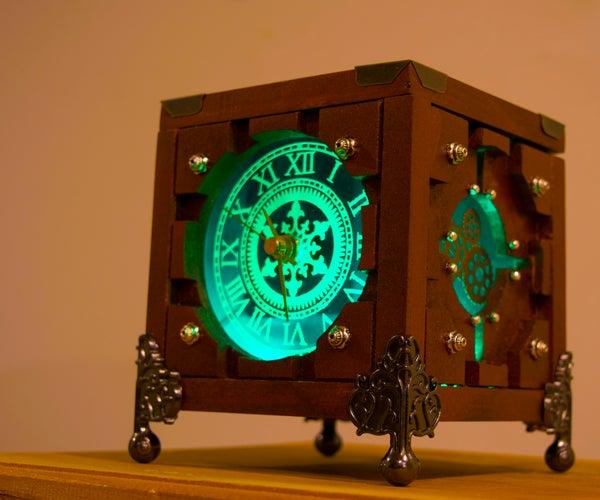 Lighted Steampunk Portal Clock