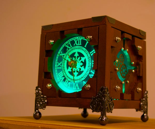 Lighted Steampunk Portal Clock