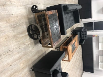 Industrial Coffee Table and End Tables