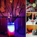 DIY Upcycled Black White and Red Wedding- Our wedding instructables. Eco and Budget Friendy Wedding
