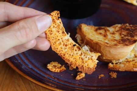 Extreme Cheese Ring Grilled Cheese