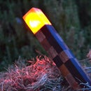 Real-Life Wooden Minecraft Torch!!! (Perfect for Night & Day!)