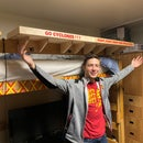 Clamping Dorm Room Shelves With School Spirit