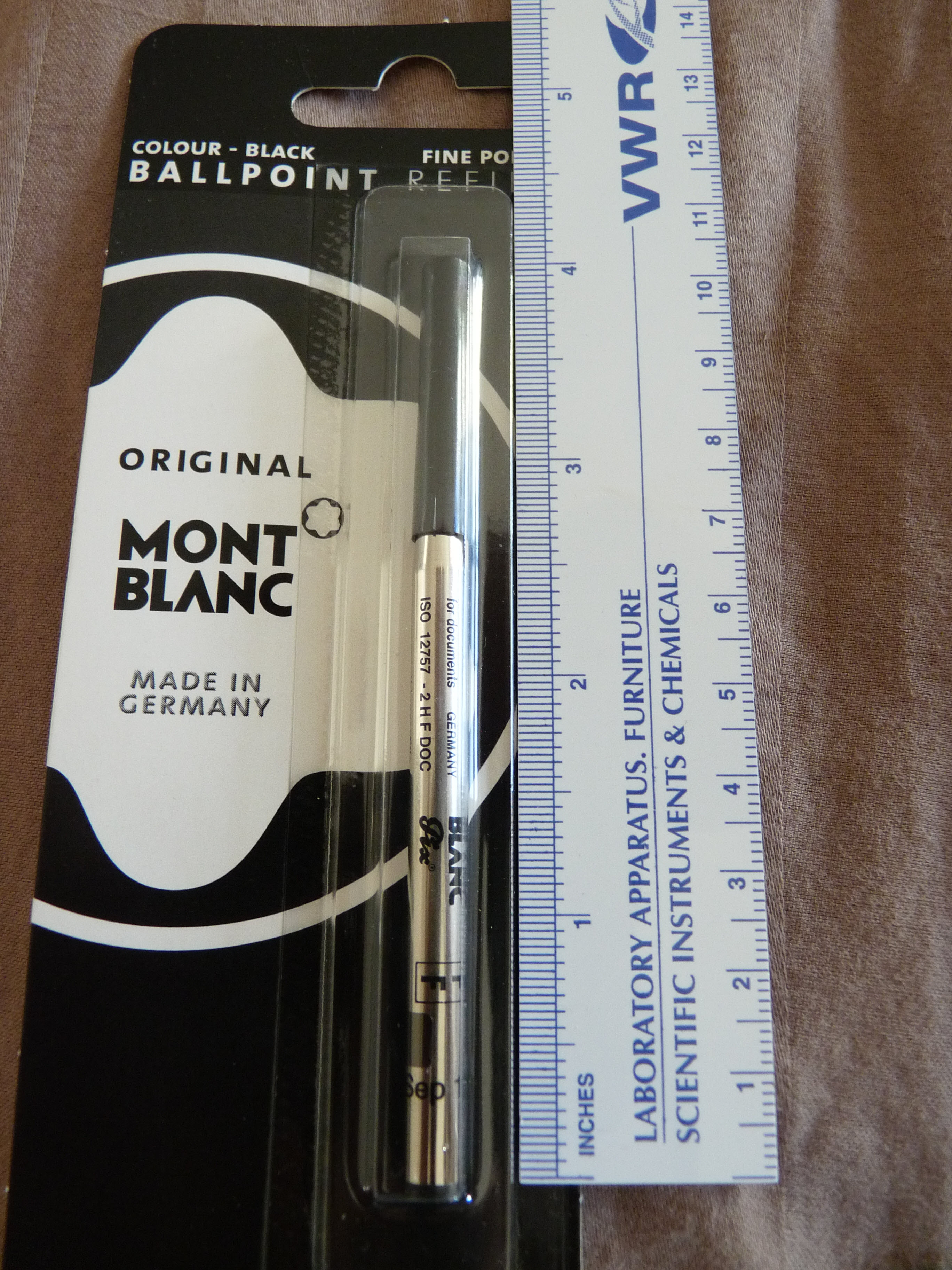 Poor man's Mont Blanc from a Bic Clic Stic