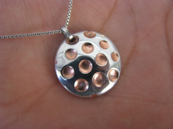 Zinc & Copper Pendant