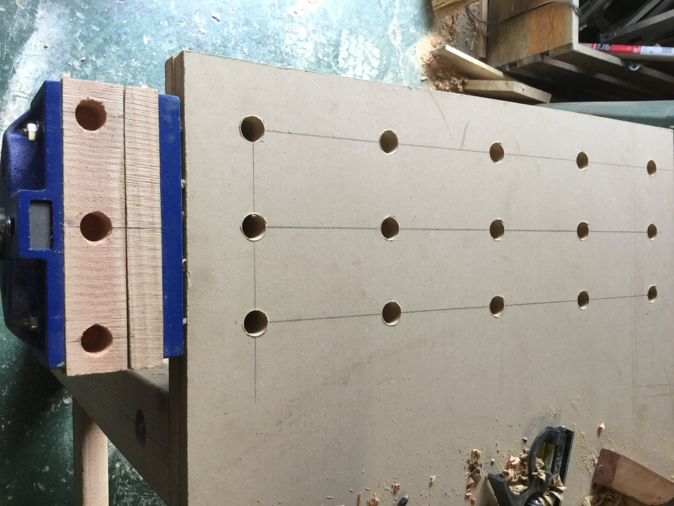 Vise Jaws and Bench Dog Holes