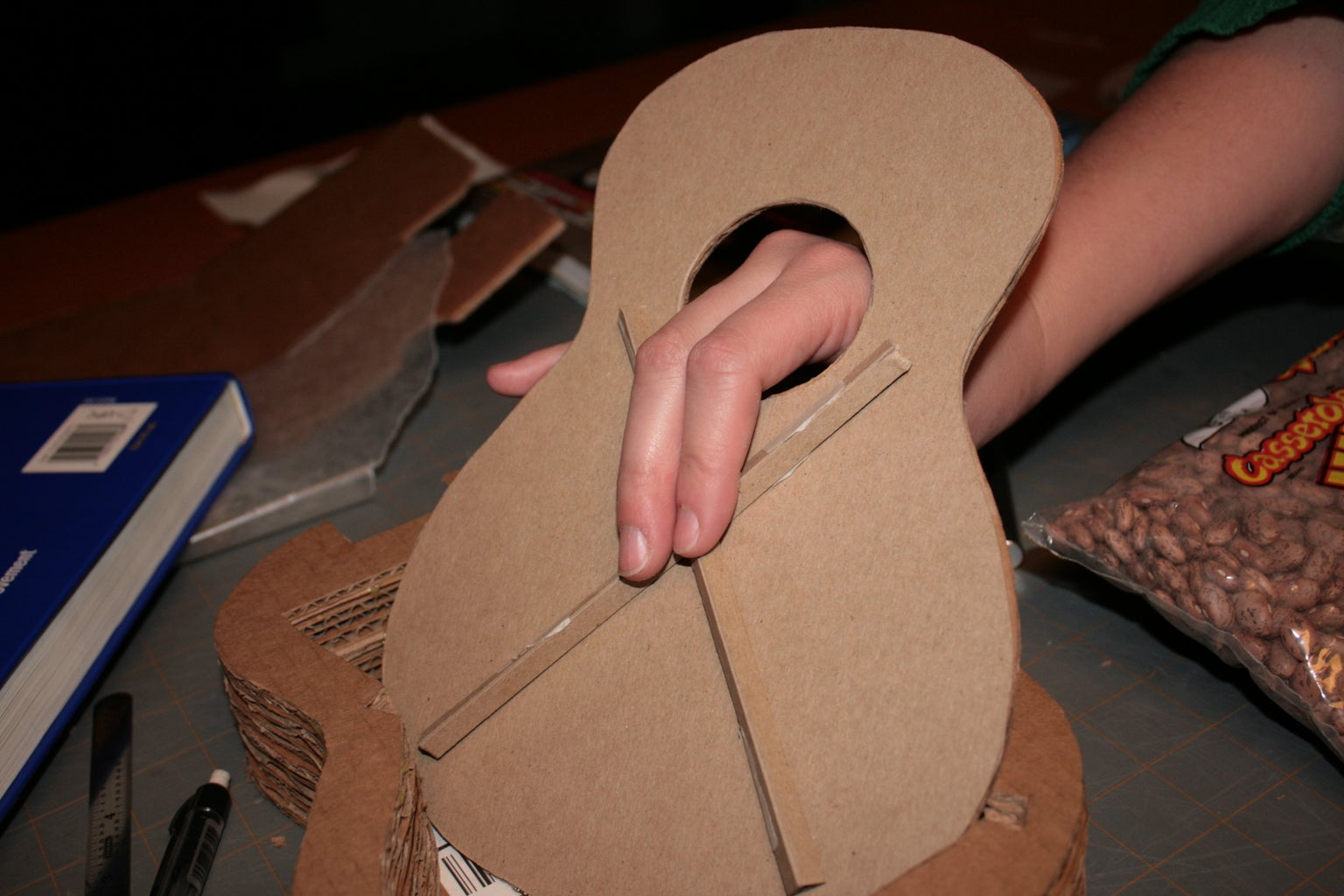 Glue Bracing to Soundboard....