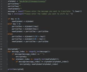 Caesar Cipher Program in Python